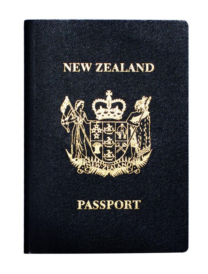 Neuseeland-Paß lizenzfreies stockfoto