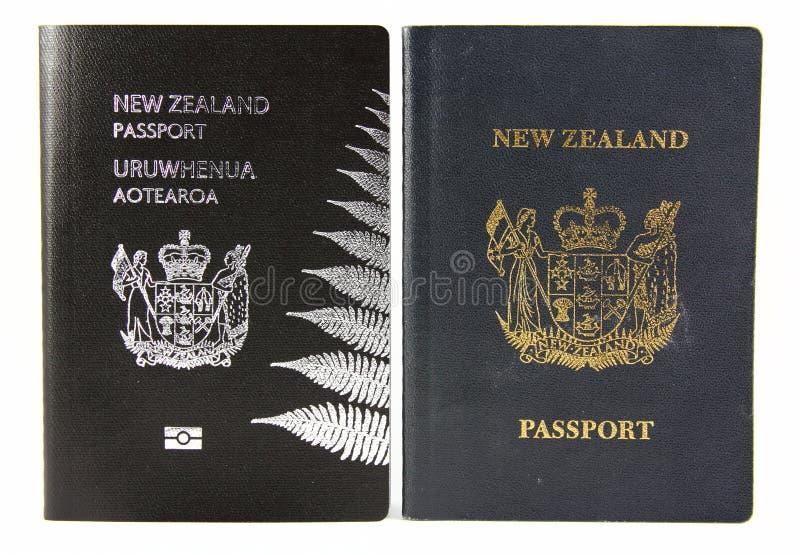 Neuseeland-Pass- alt und neu lizenzfreie stockfotografie