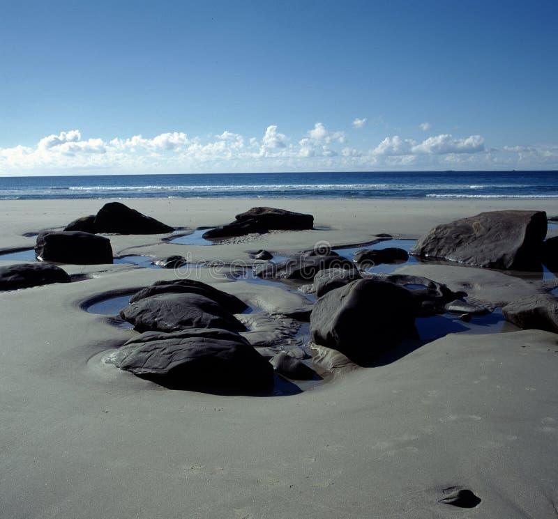 Neuseeland-Strand stockfoto