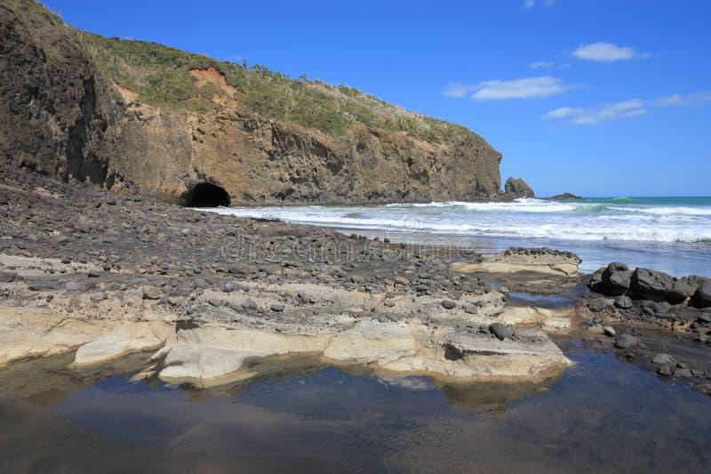 Neuseeland-Strand lizenzfreies stockbild