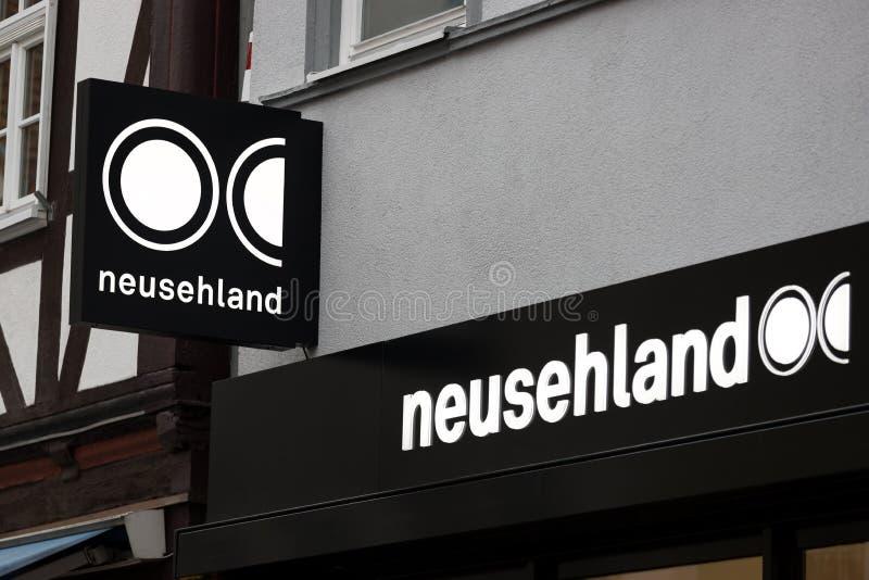 Neusehland-affär i onda ördsbruna arkivbild