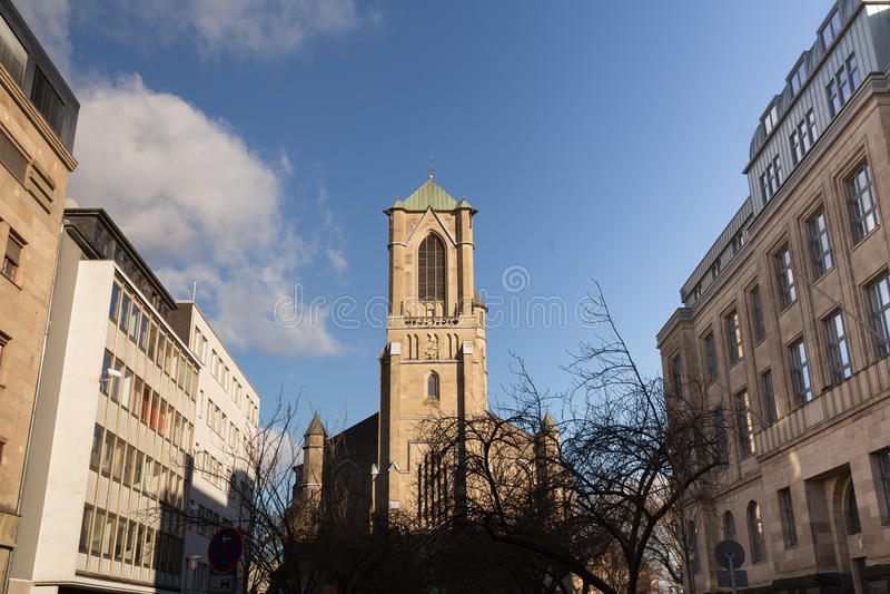 Neuss Alemania de la iglesia de Marien imagen de archivo