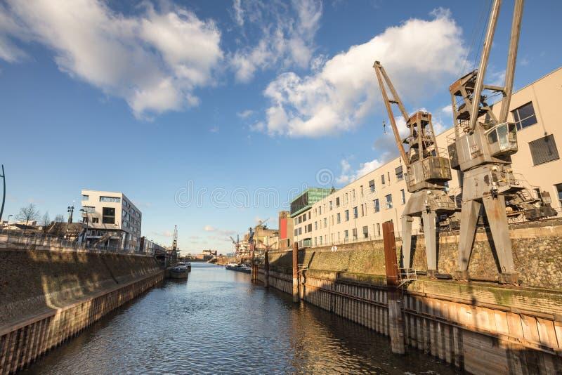 Neuss Alemania del puerto del río Rhine imágenes de archivo libres de regalías