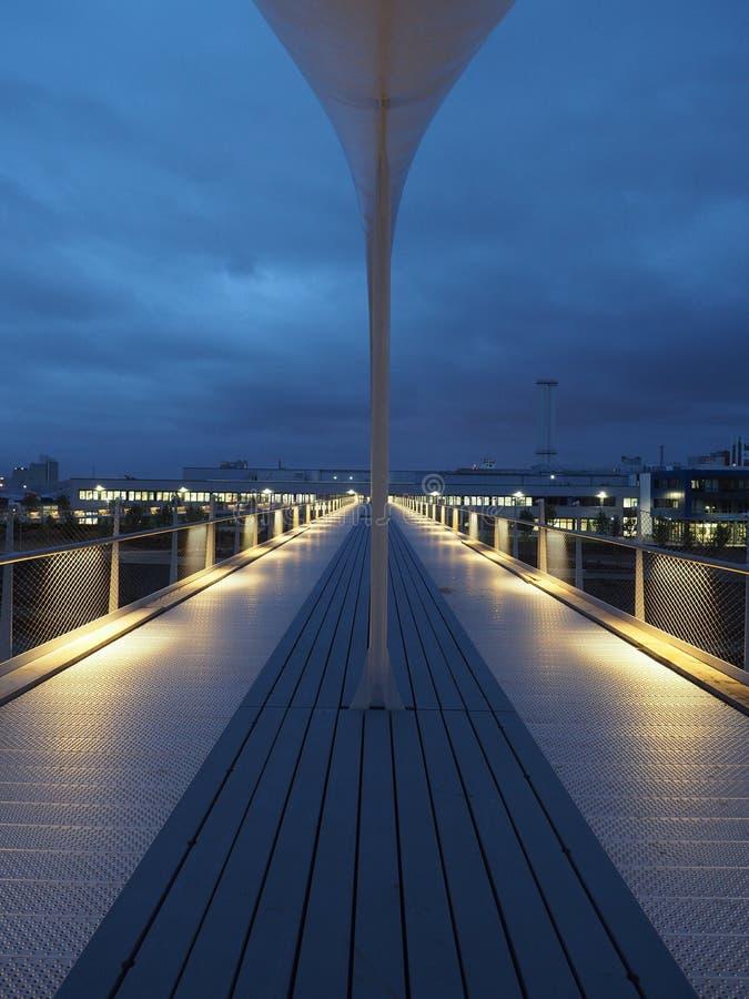 Neuss del ponte del porto fotografia stock