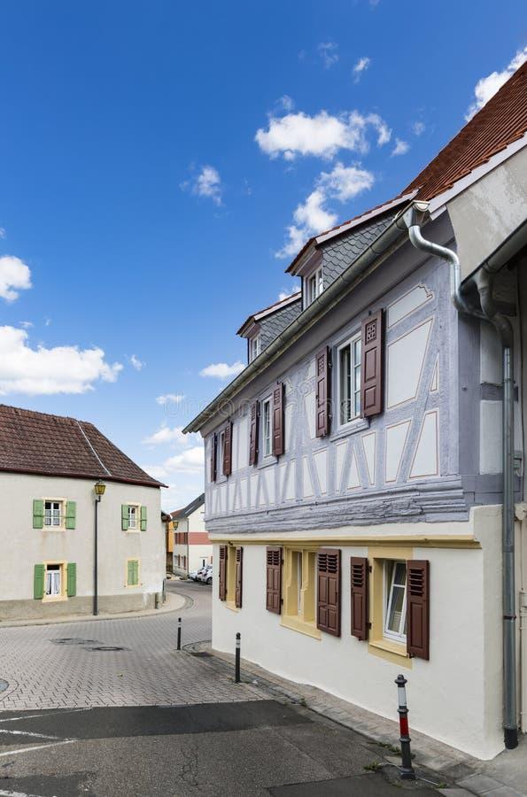 Neustadt παλαιά σπίτια ενός der Weinstrasse, Γερμανία στοκ φωτογραφία