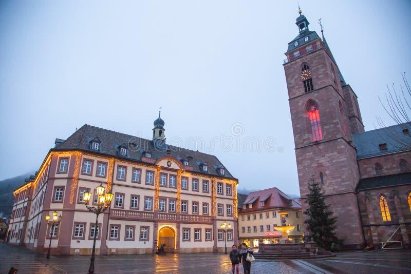 Neustadt céntrico un der Weinstrasse imágenes de archivo libres de regalías
