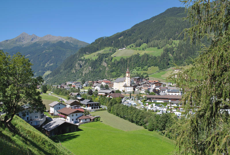 Neustift Stubaital, Tirol, Österrike royaltyfria foton