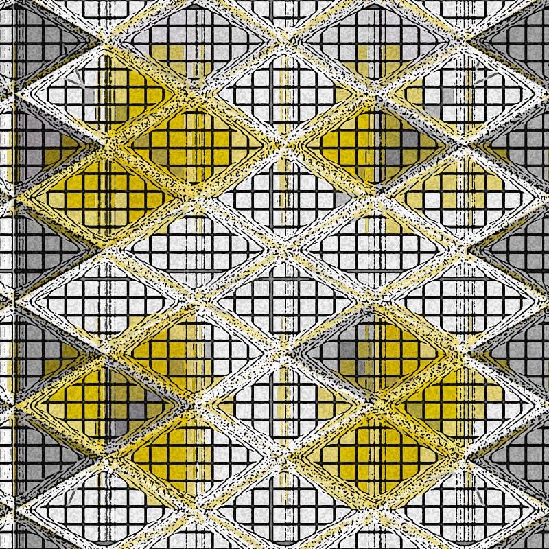Neutraal gekleurd driehoeken geometrisch gebreid patroon royalty-vrije illustratie