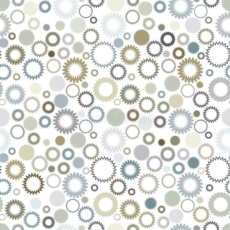 Neutraal kleuren naadloos patroon stock illustratie