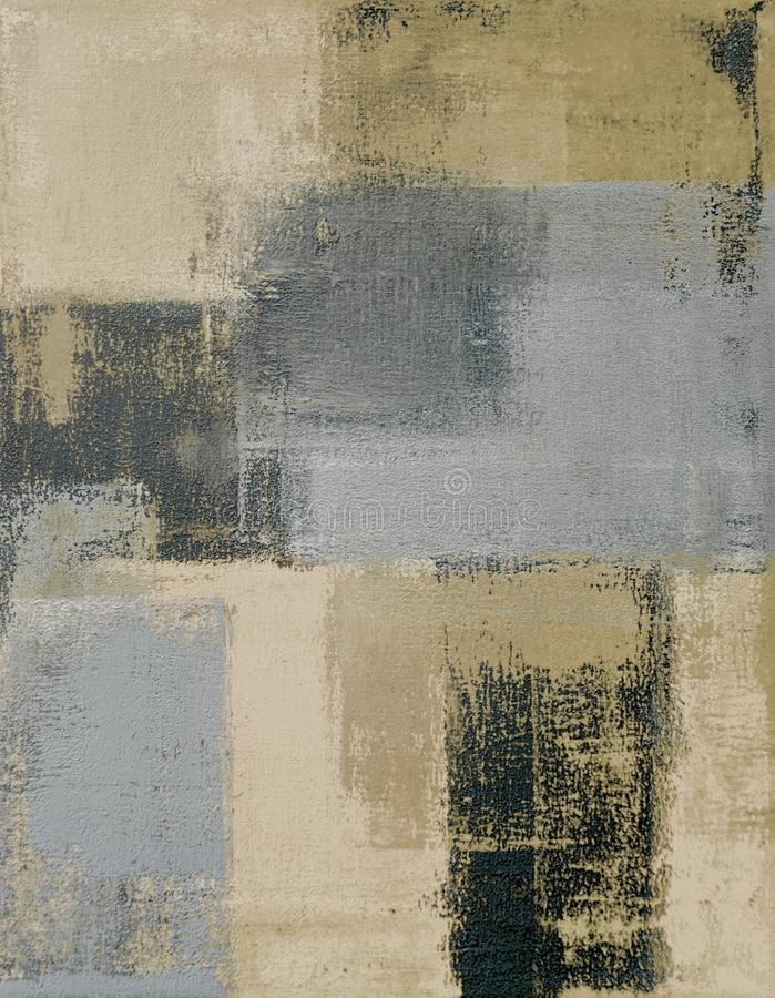 Neutral Abstract Art Painting stock images