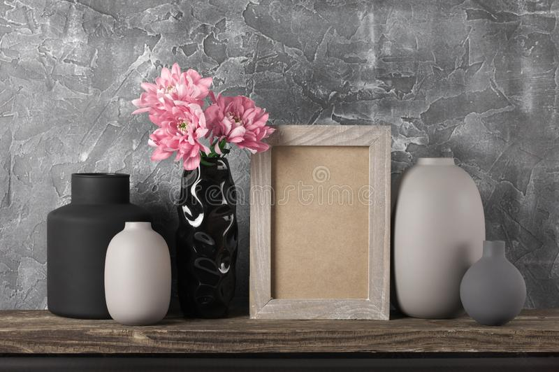 Neutral colored home decor royalty free stock photography