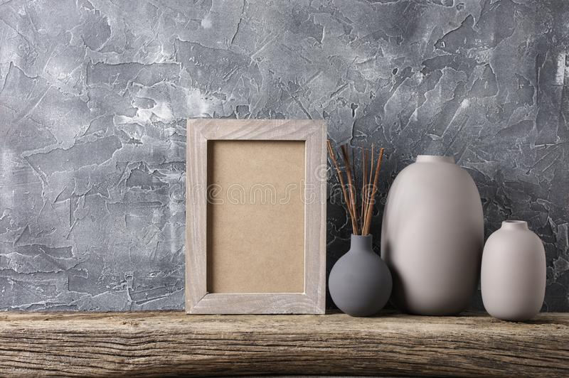 Neutral colored home decor stock images