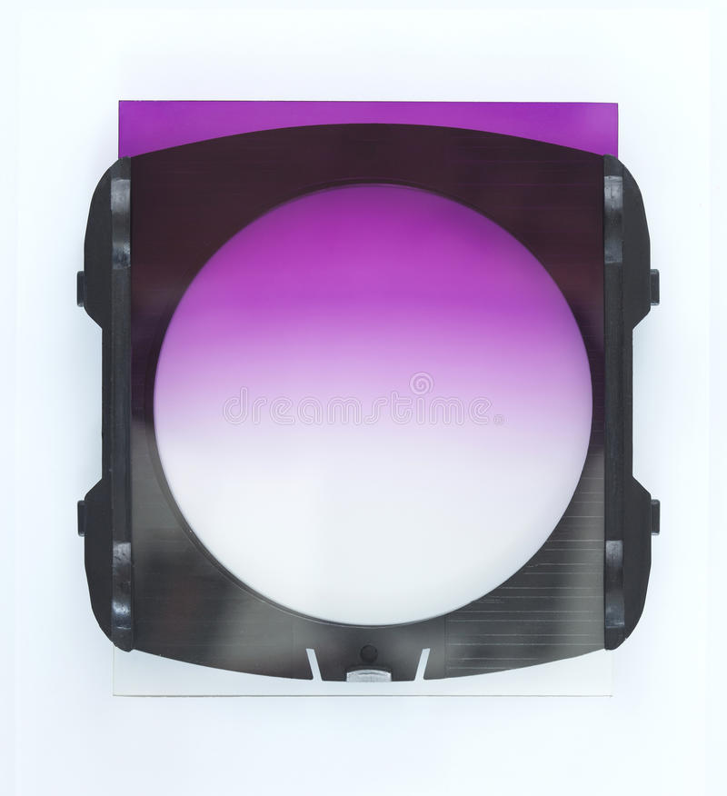 Neutral Density filter accessory stock photo