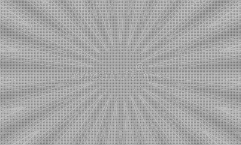 Neutral Grayscale Tiled Middle Focused Background. This abstract gray background has its middle focused, and a tile background behind everything stock illustration