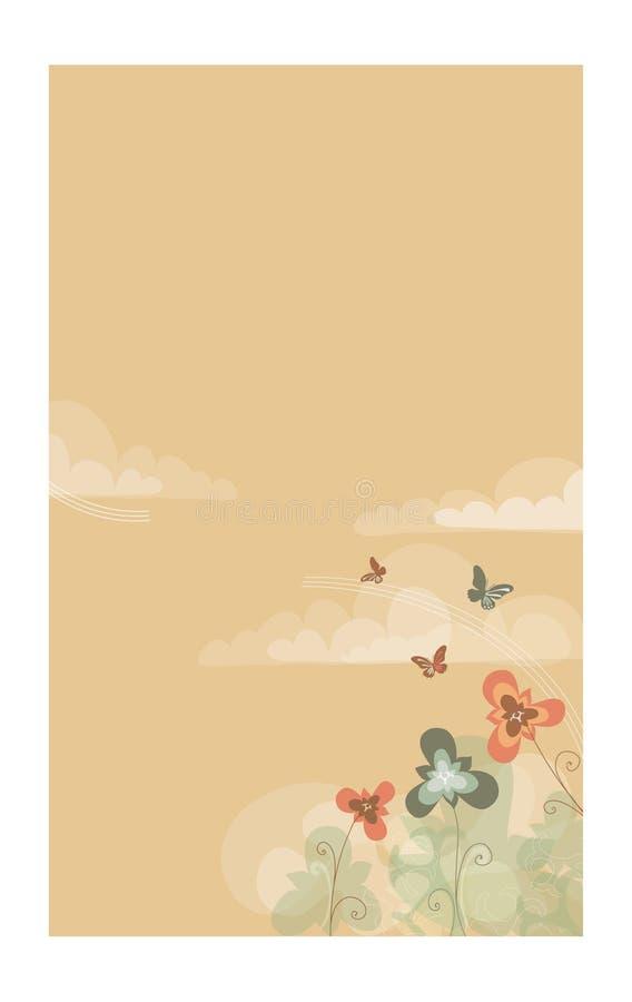 Neutral-hued garden vector illustration