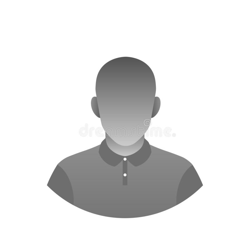 Neutral profile picture. Modern anonymous asexual profile picture. Monochrome gradient avatar. Artificial intelligence abstract icon stock illustration
