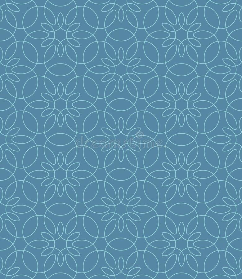 Neutral Seamless Linear Flourish Pattern. Neutral Seamless Linear Pattern. Tileable Geometric Outline Ornate. Vintage Flourish Vector Background vector illustration