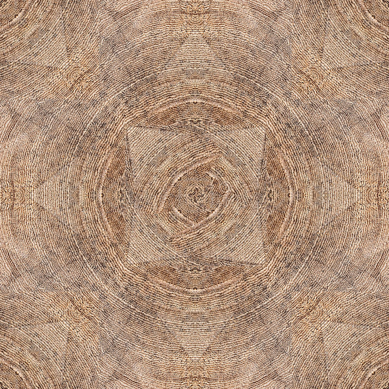 Neutral Seamless Square Hard Wood Parquet Floor Pattern With Triangles and Concentric Annual Growth Rings royalty free stock photography