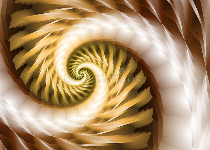 Neutral Spiral royalty free illustration