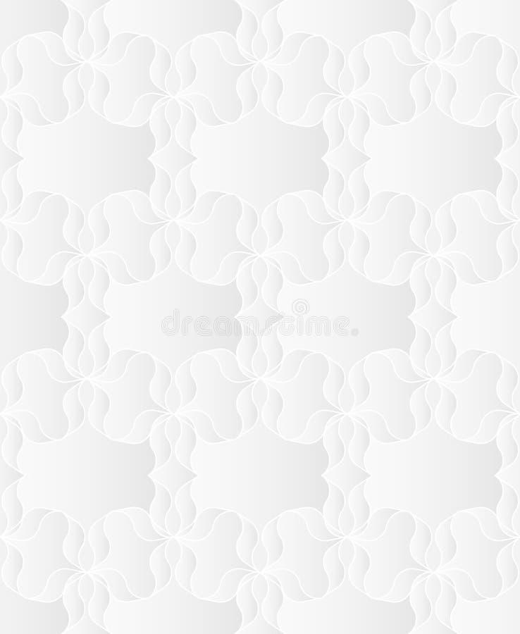 Neutrale Witte Bloementextuur stock illustratie