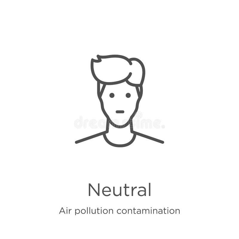 neutraler Ikonenvektor von der Luftverschmutzungs-Verschmutzungssammlung Dünne Linie neutrale Entwurfsikonen-Vektorillustration E stock abbildung