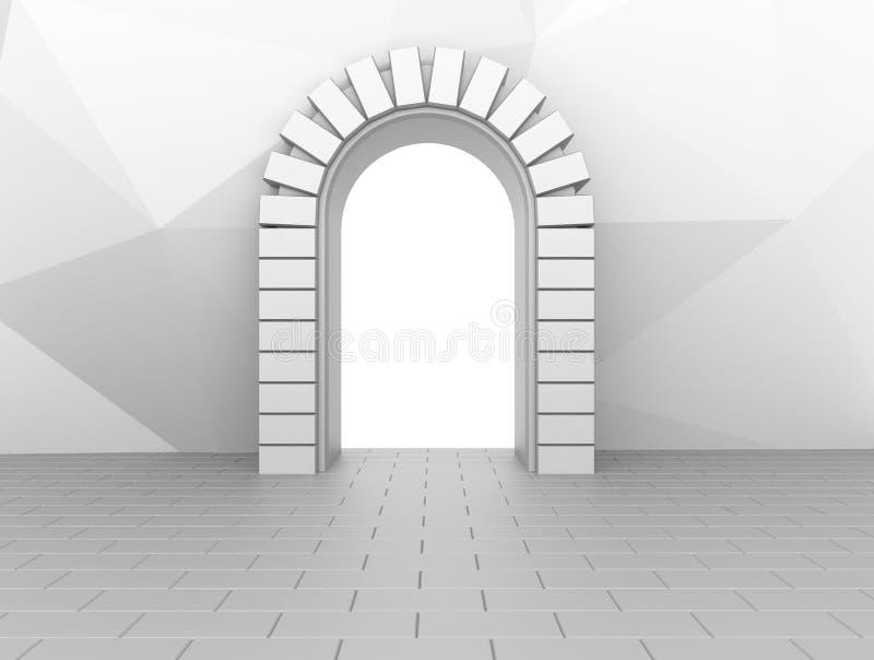 Neutralna brama cegła ilustracji