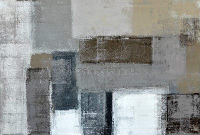 Neutralny Abstrakcjonistycznej sztuki obraz ilustracja wektor