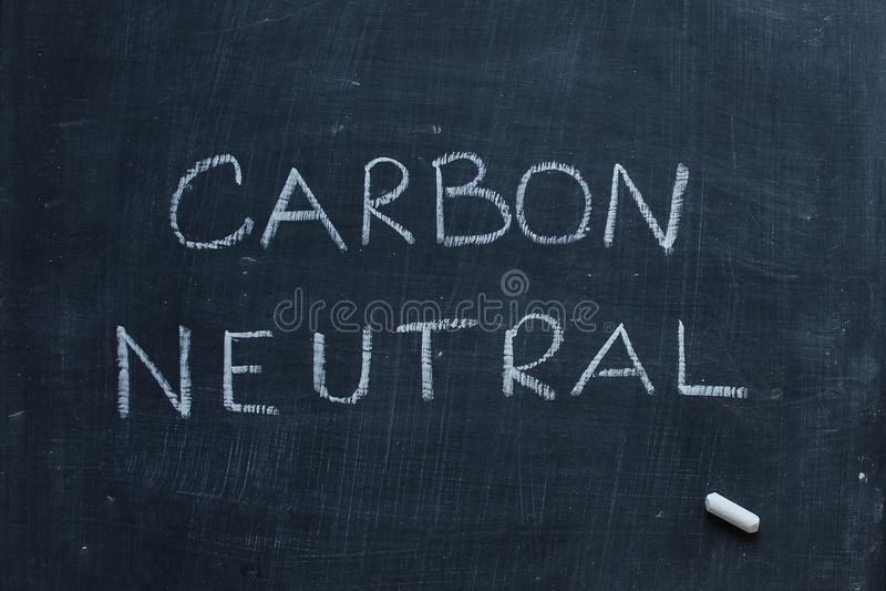 Neutre de carbone images libres de droits