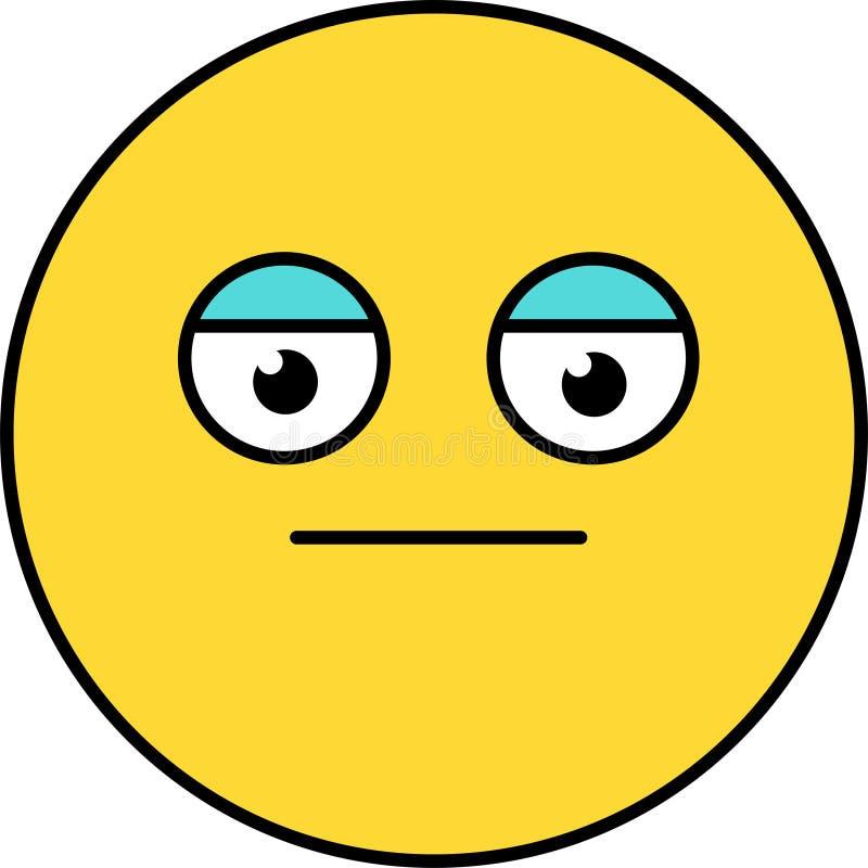 Neutro, ilustra??o do vetor do emoji da cara de p?quer ilustração stock