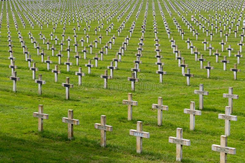 NEUVILLE SAINT-VAAST, FRANCE/EUROPE - SEPTEMBER 12 : French National War Cemetery near Neuville Saint-Vaast on September 12, 2015 stock images