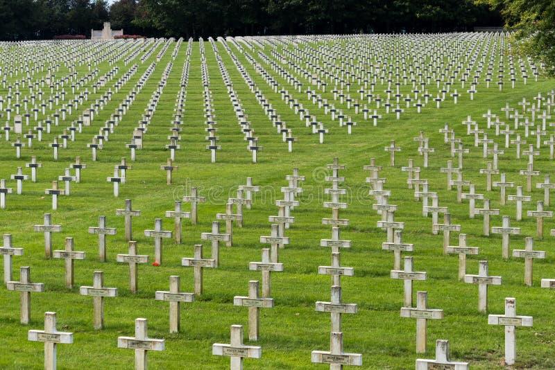 NEUVILLE SAINT-VAAST, FRANCE/EUROPE - SEPTEMBER 12 : French National War Cemetery near Neuville Saint-Vaast on September 12, 2015 royalty free stock photos