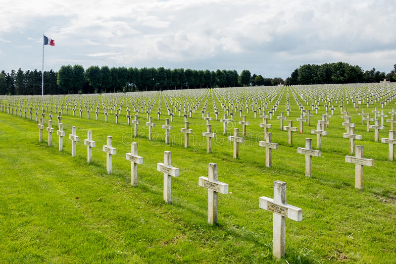 NEUVILLE SAINT-VAAST, FRANCE/EUROPE - SEPTEMBER 12 : French National War Cemetery near Neuville Saint-Vaast on September 12, 2015 stock photos