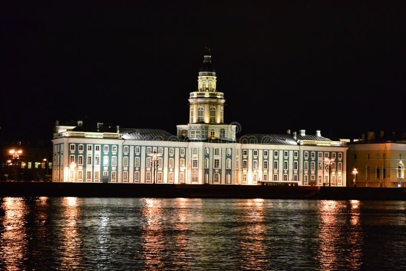 neva晚上河视图 免版税库存照片