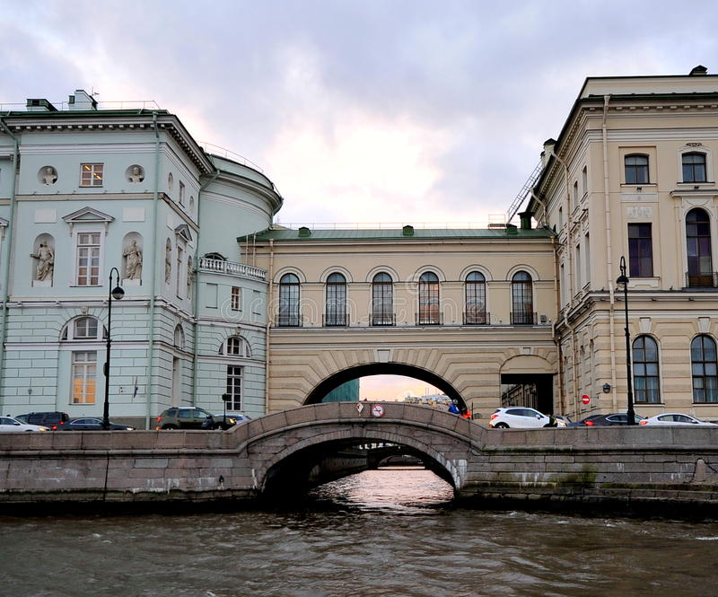 Neva River, St Petersburg, Rússia imagem de stock royalty free