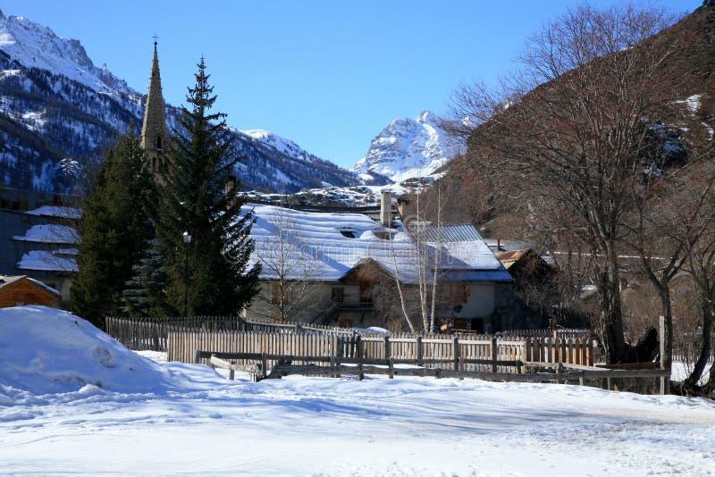 Nevache - Alpen lizenzfreies stockbild