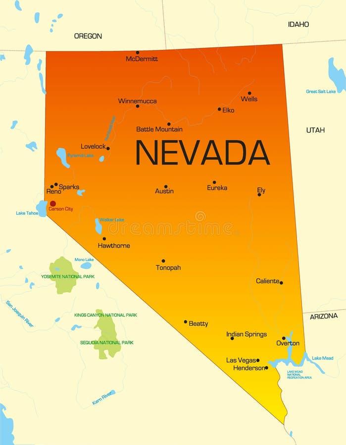 Nevada vector illustratie