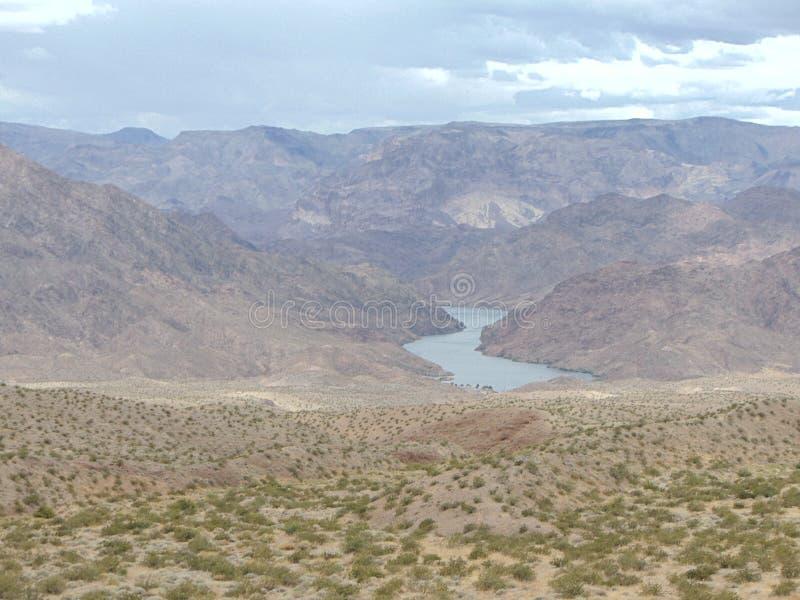 Nevada Arizona Desert et le fleuve Colorado photo libre de droits