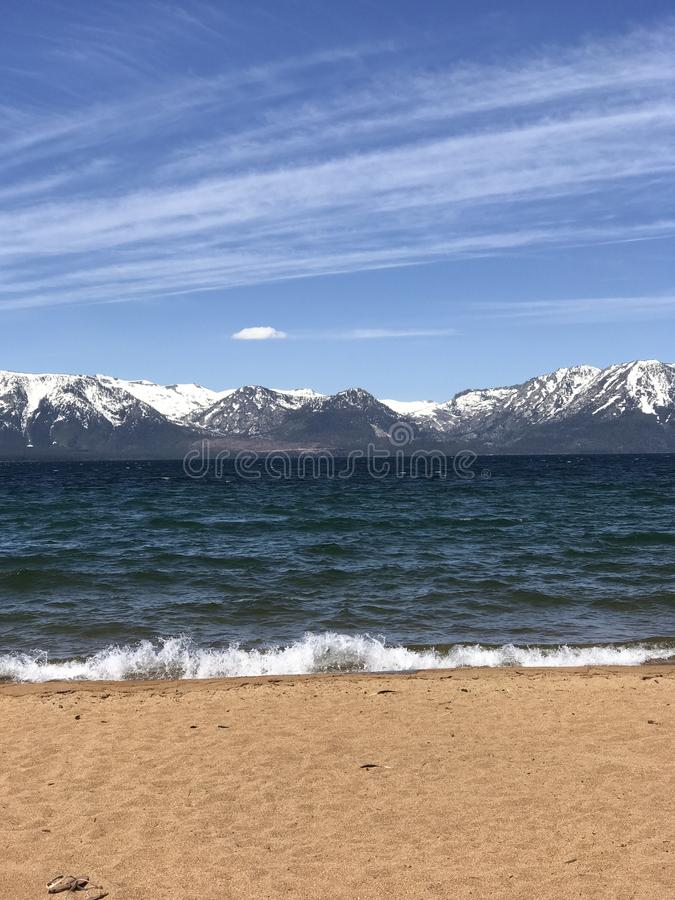 Nevada Beach, Lake Tahoe in June stock photography