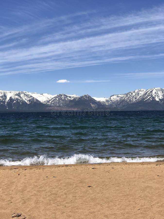 Nevada Beach, Meer Tahoe in Juni stock fotografie