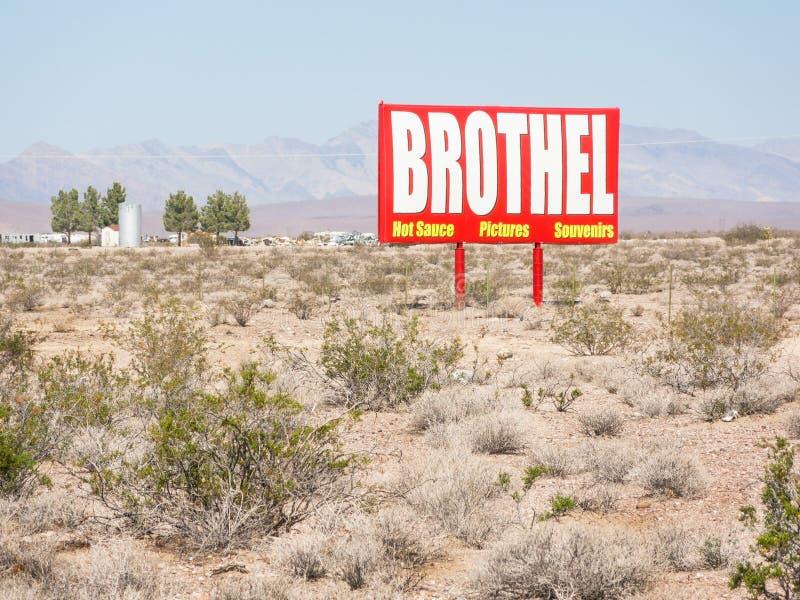 Nevada Brothel-Zeichen stockfotos
