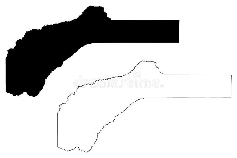 Nevada County, vetor do mapa de Califórnia ilustração stock