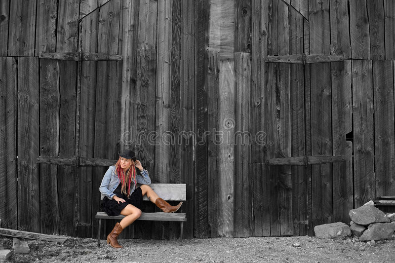 Nevada Cowgirl royalty free stock images