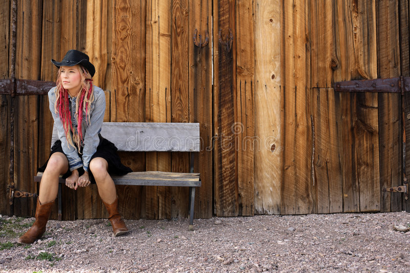 Nevada Cowgirl stock images