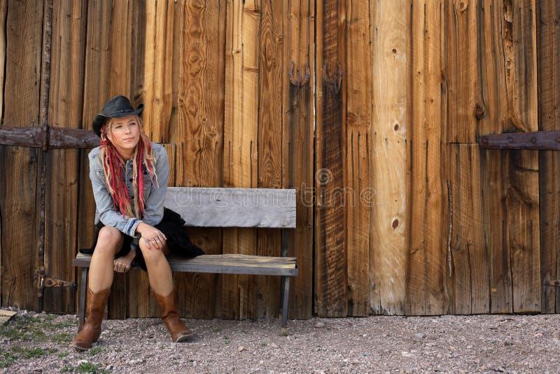 Nevada Cowgirl royalty free stock photos