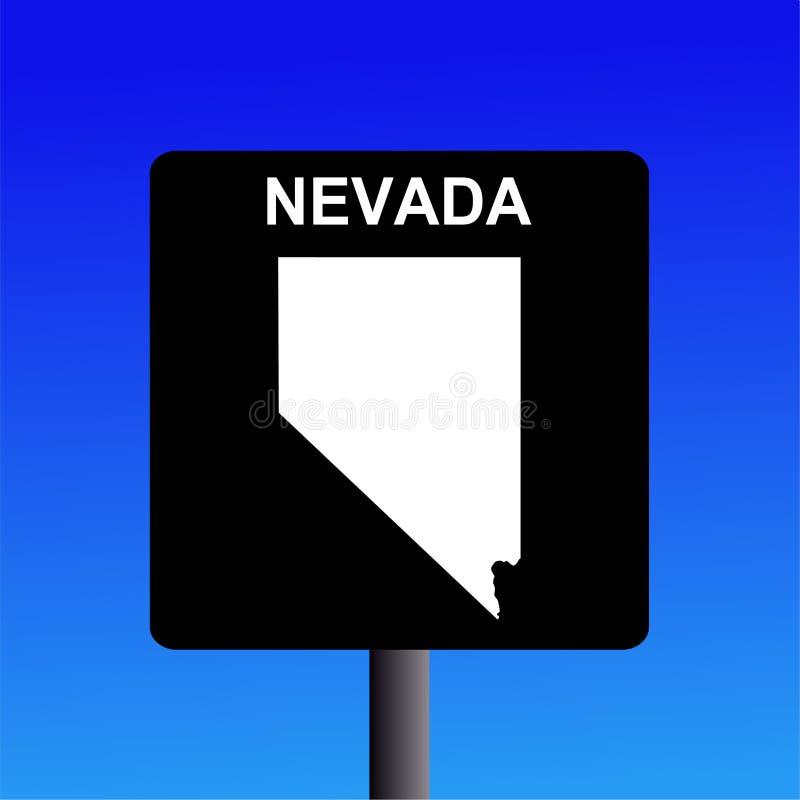 Nevada-Datenbahnzeichen stock abbildung