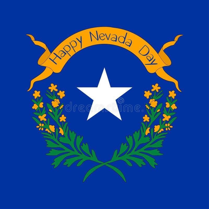 Nevada Day-vakantie stock illustratie
