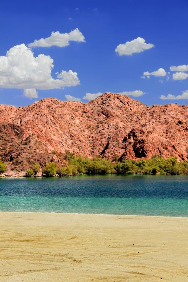 Nevada Desert Reservoir Beach arkivbild