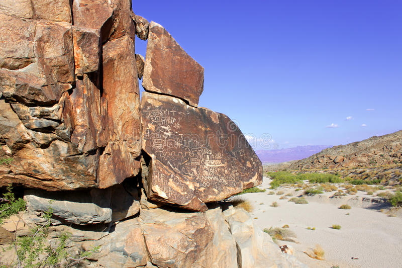 Nevada Desert Rock Petroglyphs royalty-vrije stock foto's