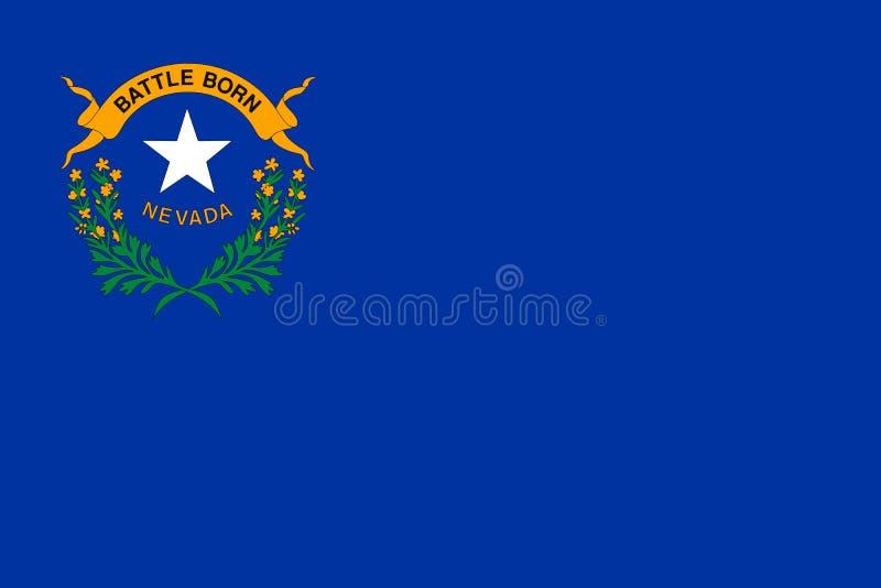 Nevada-Flagge Auch im corel abgehobenen Betrag Staaten von Amerika lizenzfreie abbildung