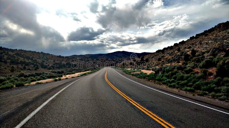 Nevada highway royalty free stock images